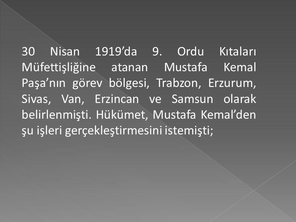 30 Nisan 1919'da 9.