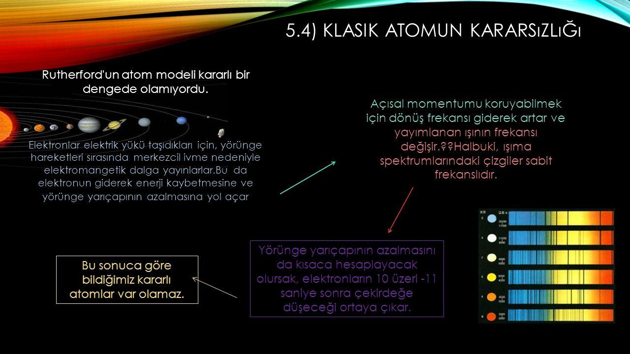 5.4) Klasik Atomun Kararsızlığı