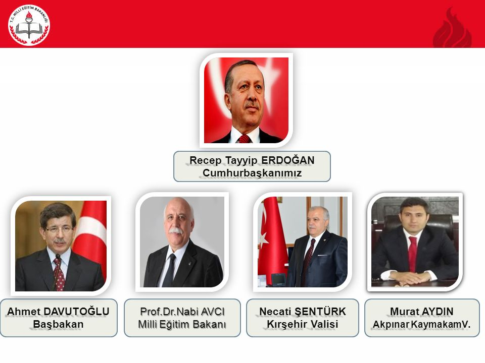 Recep Tayyip ERDOĞAN Cumhurbaşkanımız Ahmet DAVUTOĞLU Başbakan