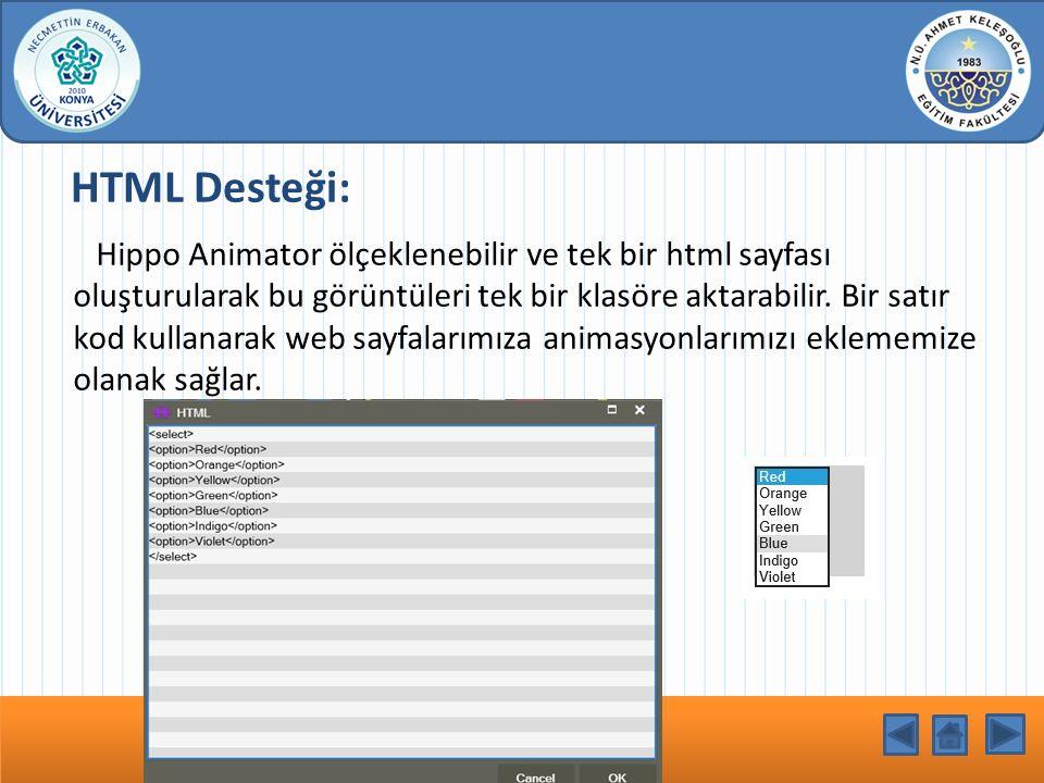 HTML Desteği: