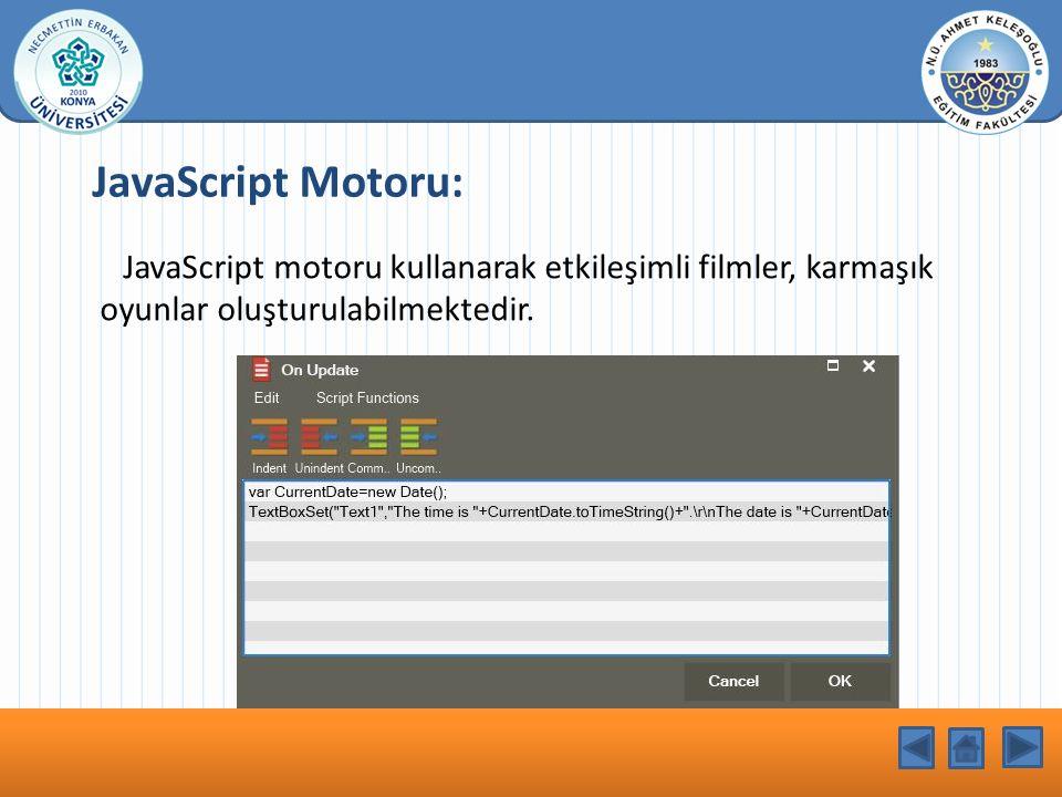 KONU BAŞLIĞI JavaScript Motoru: