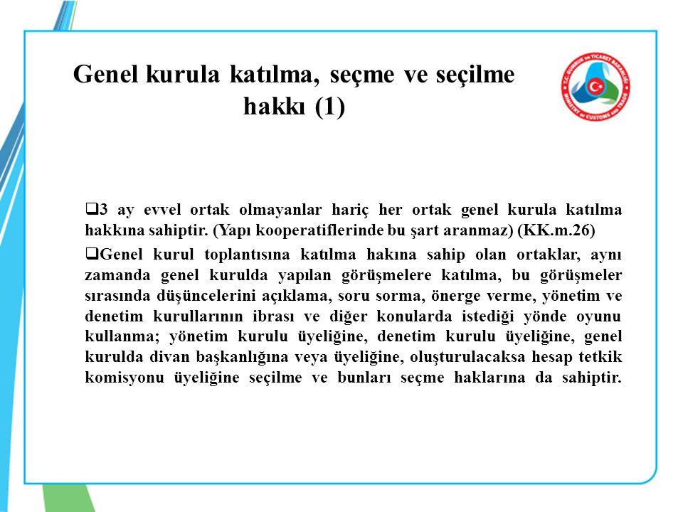 Genel kurula katılma, seçme ve seçilme hakkı (1)