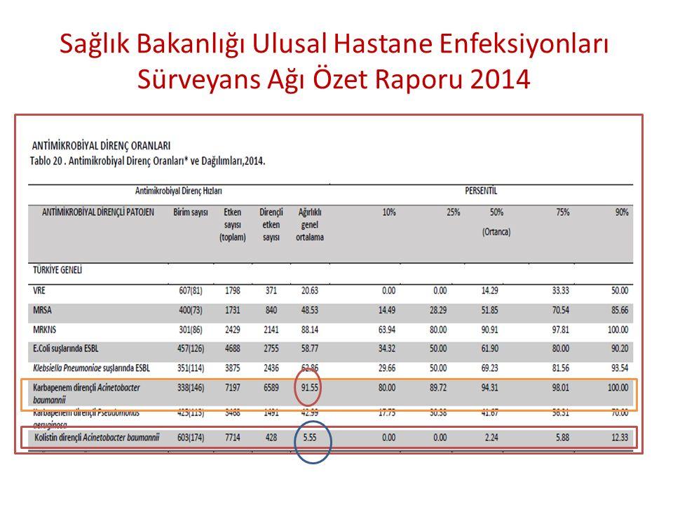 Sağlık Bakanlığı Ulusal Hastane Enfeksiyonları Sürveyans Ağı Özet Raporu 2014