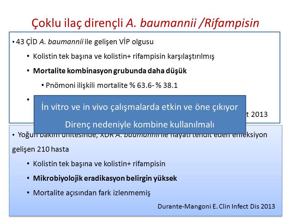 Çoklu ilaç dirençli A. baumannii /Rifampisin