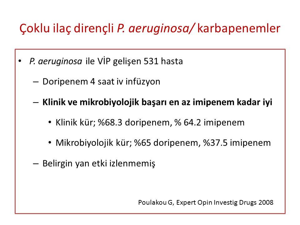 Çoklu ilaç dirençli P. aeruginosa/ karbapenemler