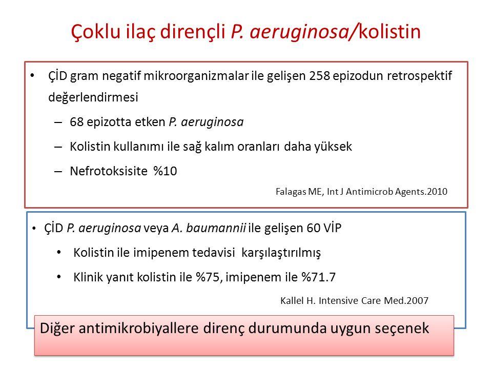 Çoklu ilaç dirençli P. aeruginosa/kolistin