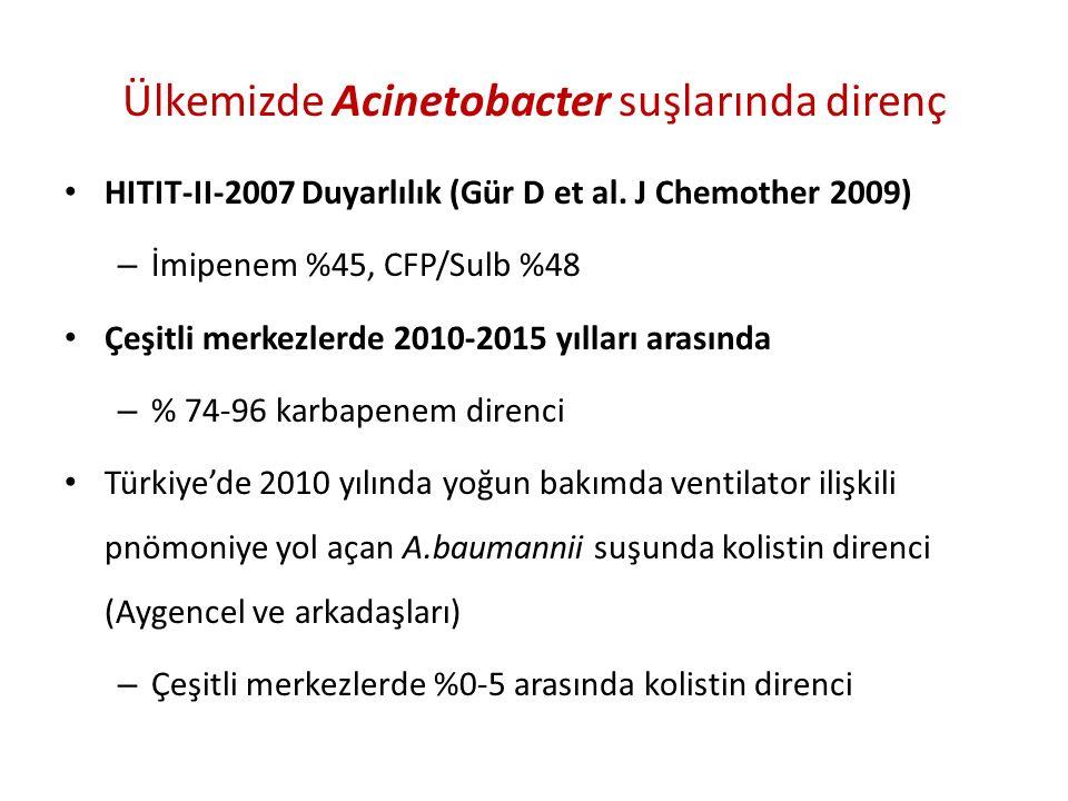 Ülkemizde Acinetobacter suşlarında direnç