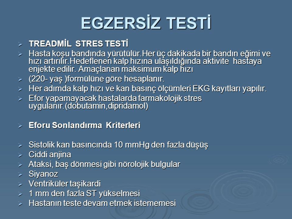 EGZERSİZ TESTİ TREADMİL STRES TESTİ