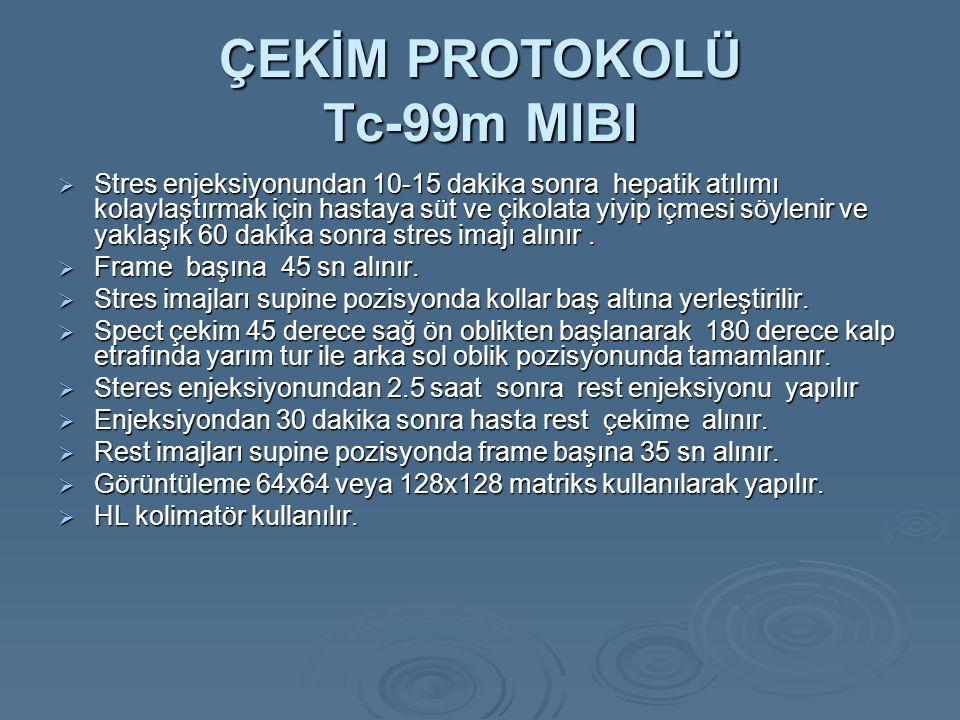 ÇEKİM PROTOKOLÜ Tc-99m MIBI