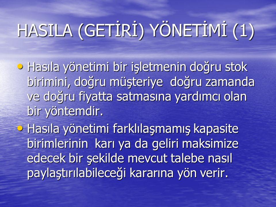 HASILA (GETİRİ) YÖNETİMİ (1)