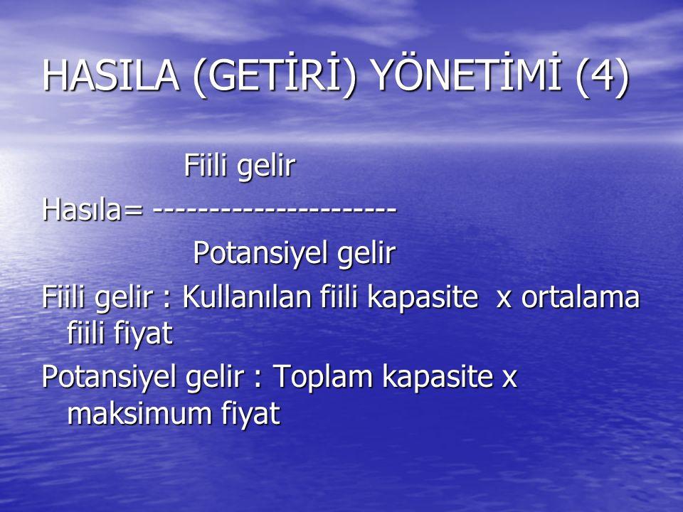 HASILA (GETİRİ) YÖNETİMİ (4)