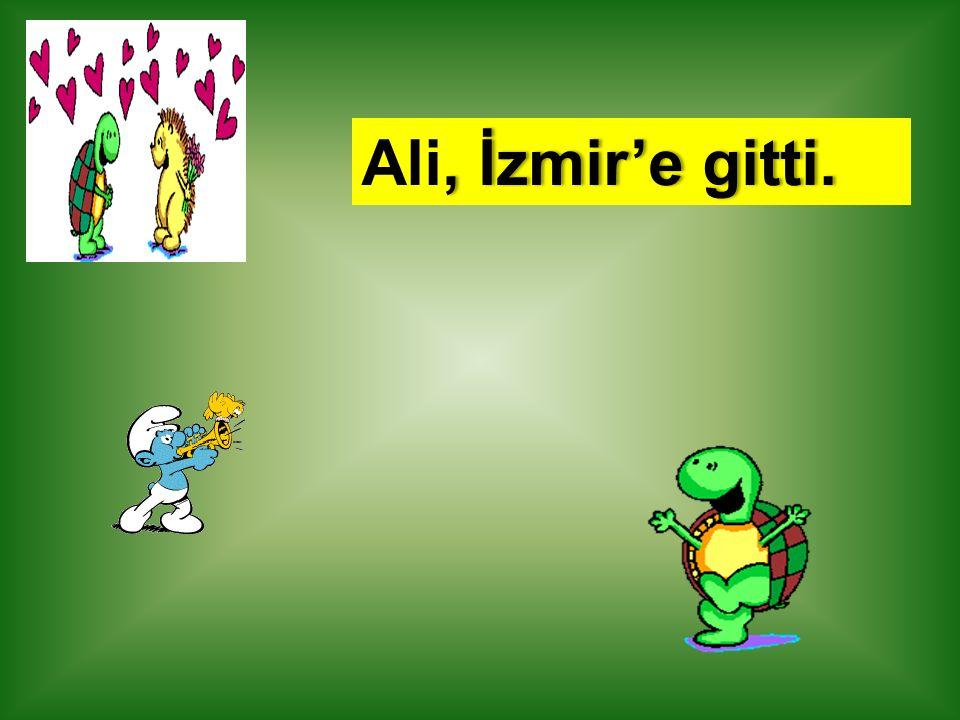 Ali, İzmir'e gitti.