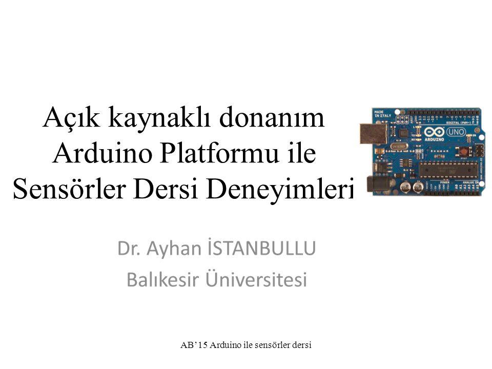 AB'15 Arduino ile sensörler dersi