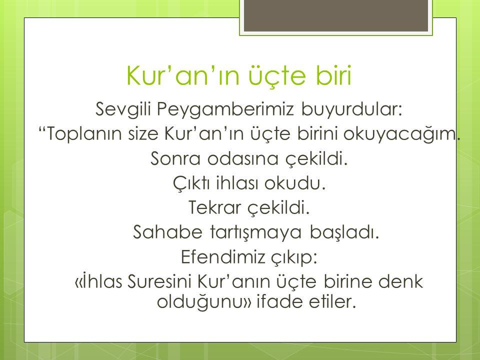 Kur'an'ın üçte biri