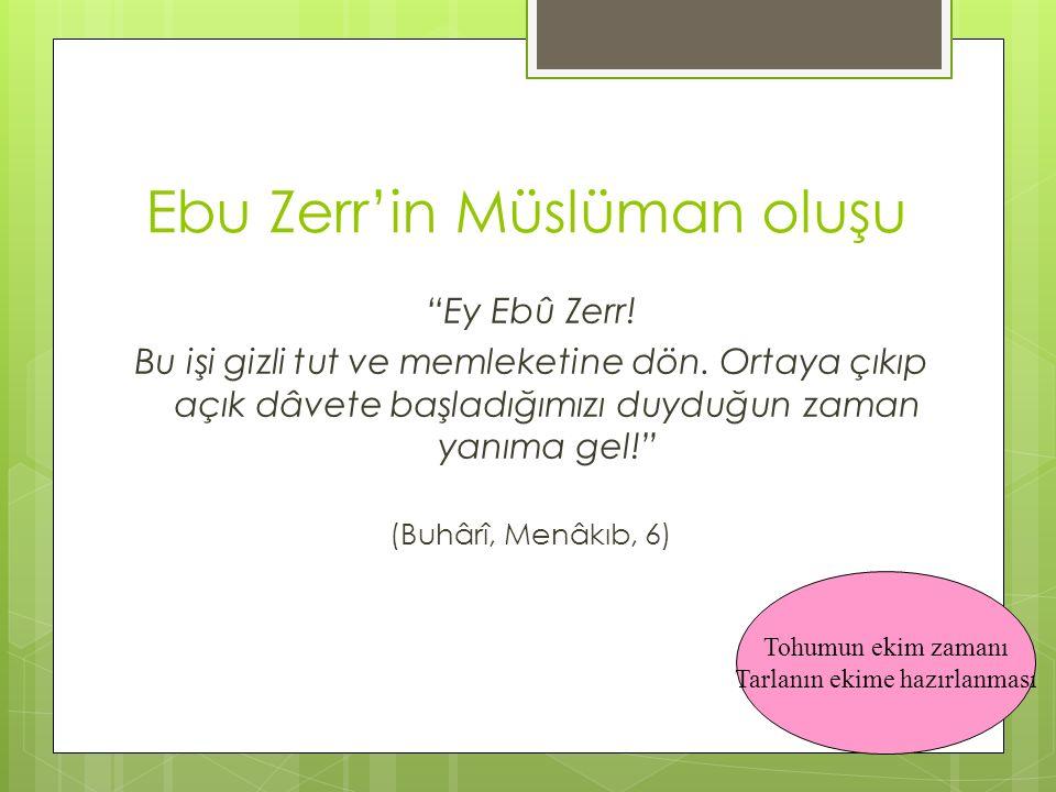 Ebu Zerr'in Müslüman oluşu