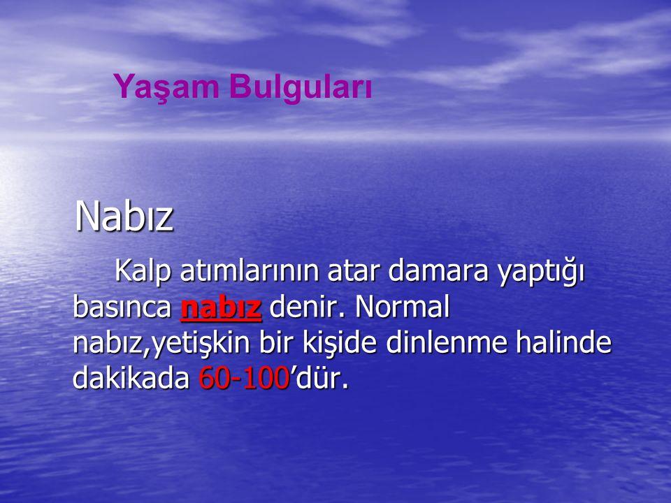 Yaşam Bulguları Nabız.