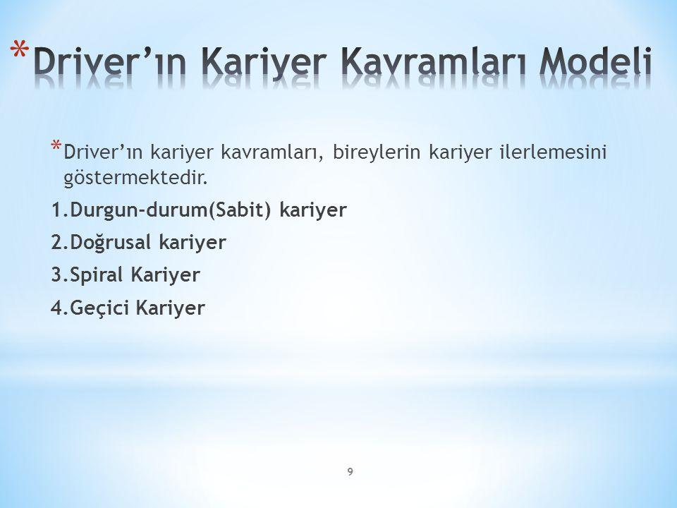 Driver'ın Kariyer Kavramları Modeli
