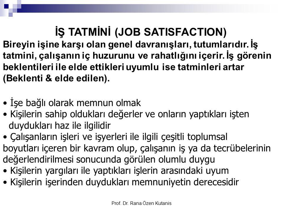 İŞ TATMİNİ (JOB SATISFACTION)