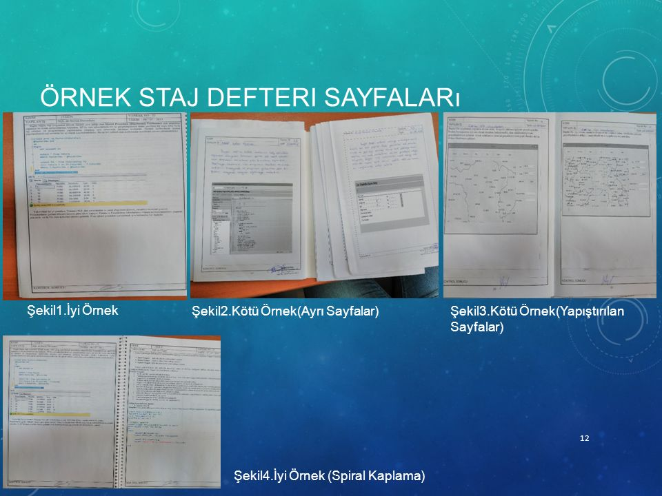Örnek Staj defteri sayfaları