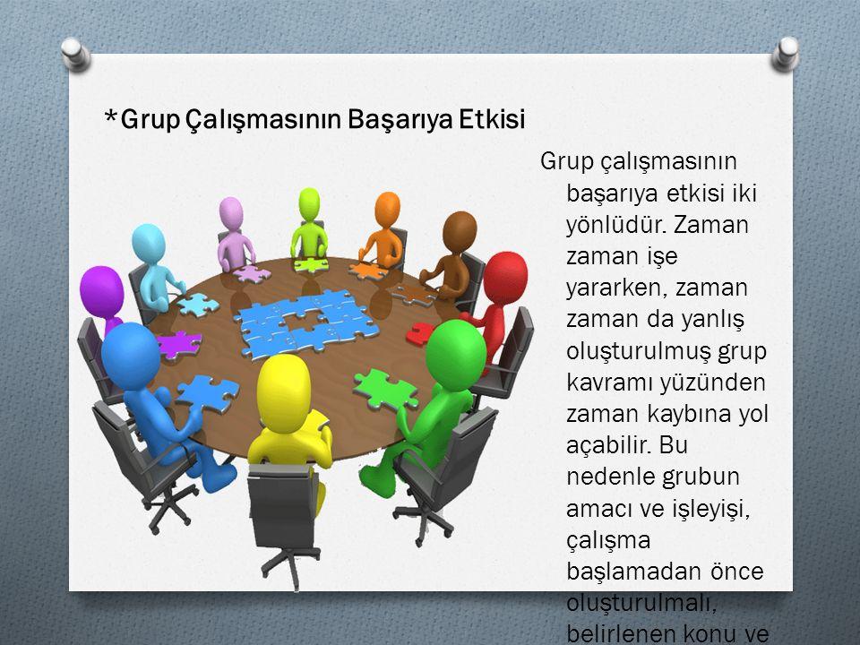 *Grup Çalışmasının Başarıya Etkisi