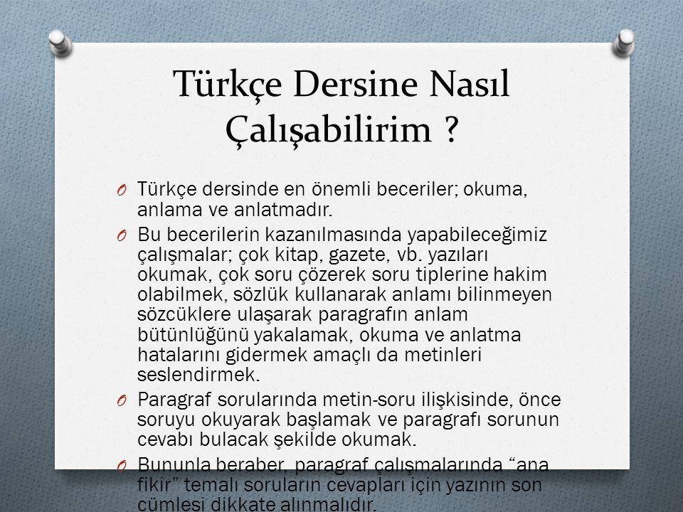 Türkçe Dersine Nasıl Çalışabilirim