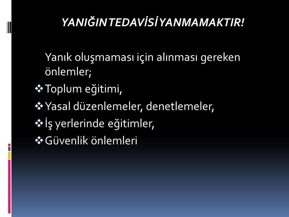 YANIĞIN TEDAVİSİ YANMAMAKTIR!