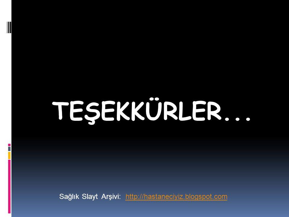 TEŞEKKÜRLER... Sağlık Slayt Arşivi: http://hastaneciyiz.blogspot.com