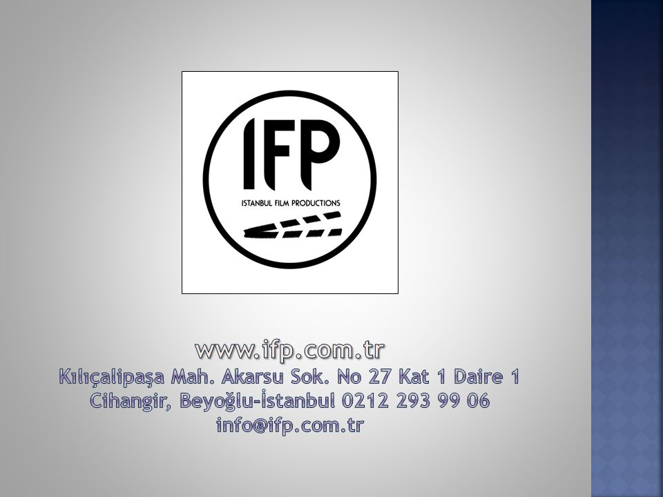 www. ifp. com. tr Kılıçalipaşa Mah. Akarsu Sok
