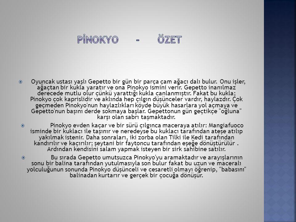 Pİnokyo - özet