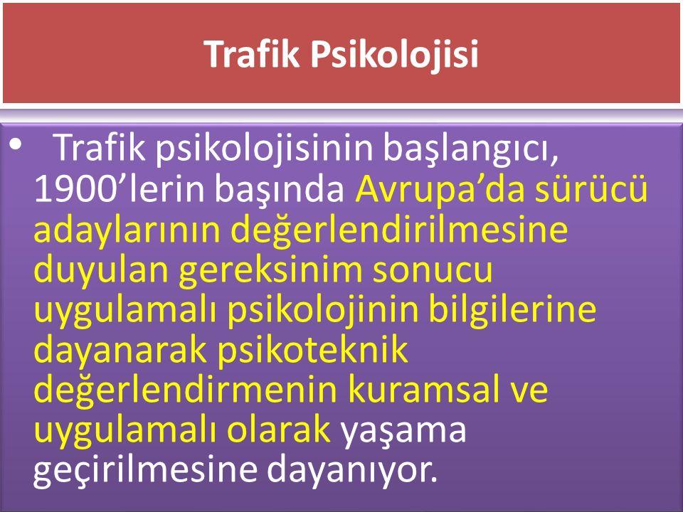 Trafik Psikolojisi