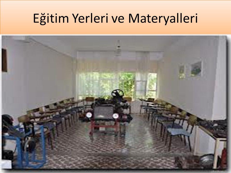 Eğitim Yerleri ve Materyalleri