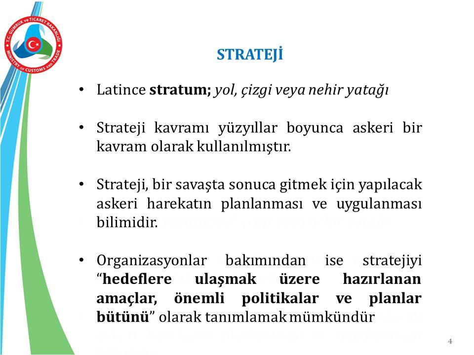 Latince stratum; yol, çizgi veya nehir yatağı