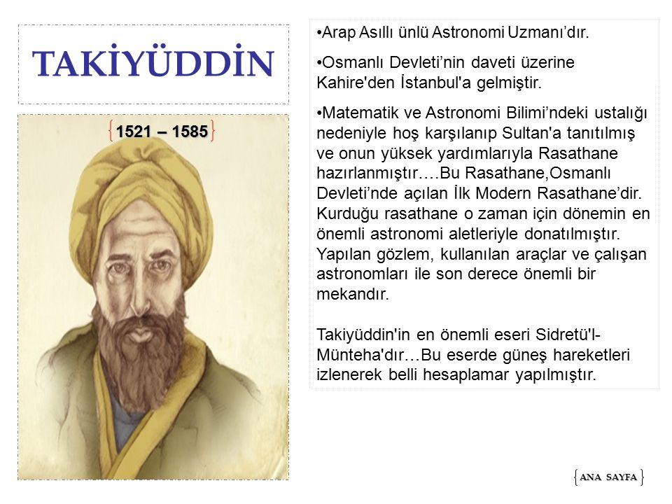 Arap Asıllı ünlü Astronomi Uzmanı'dır.