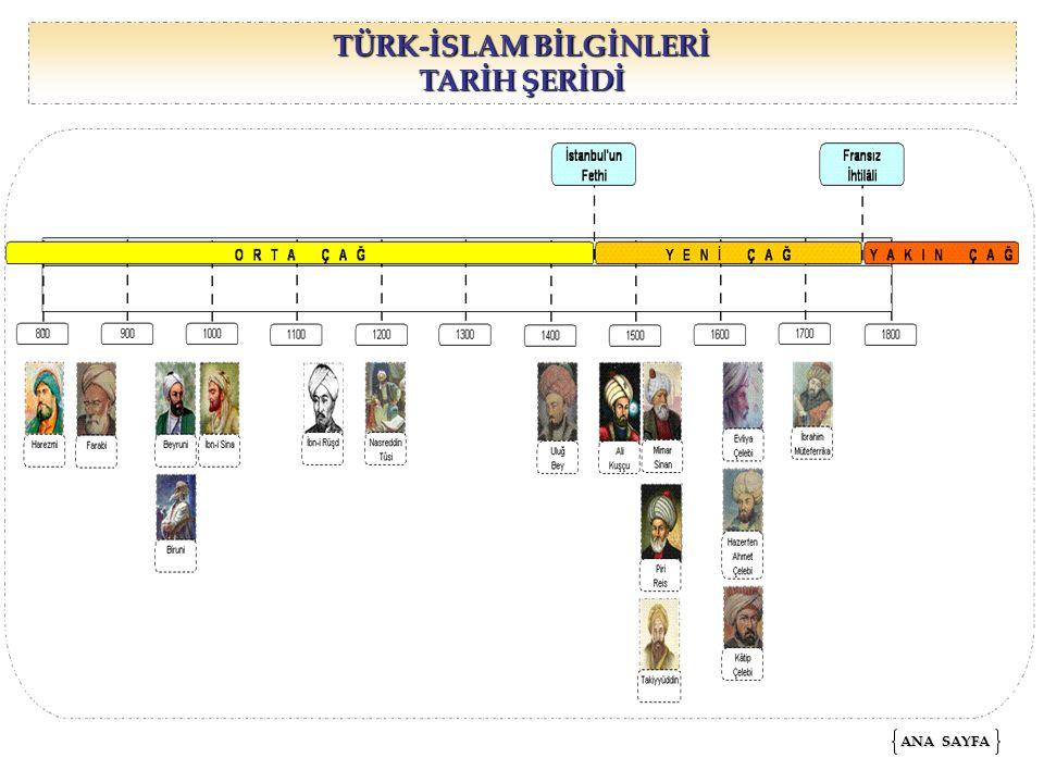 TÜRK-İSLAM BİLGİNLERİ TARİH ŞERİDİ