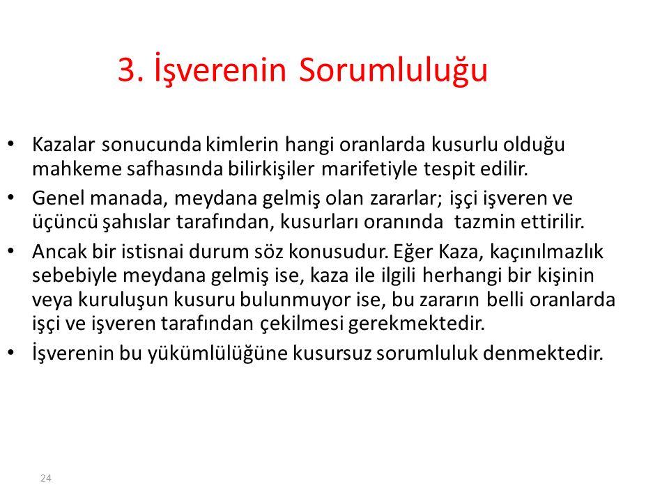 3. İşverenin Sorumluluğu