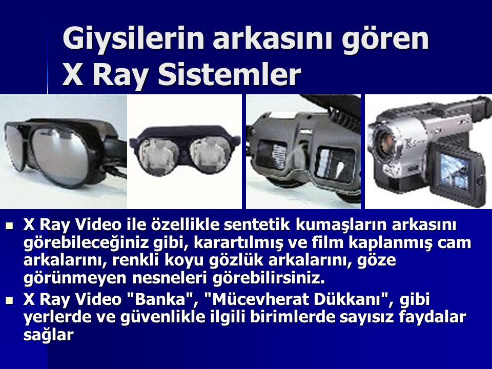 Giysilerin arkasını gören X Ray Sistemler