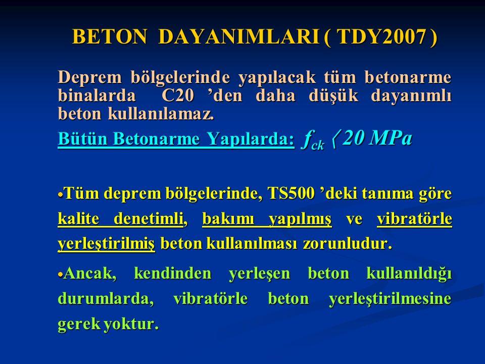 BETON DAYANIMLARI ( TDY2007 )