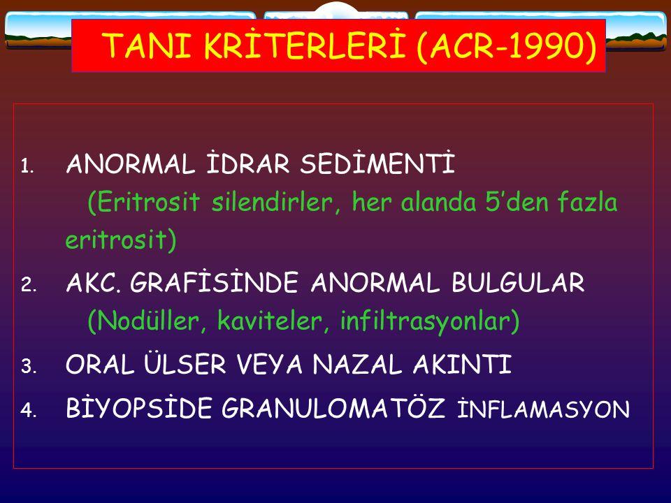 TANI KRİTERLERİ (ACR-1990)