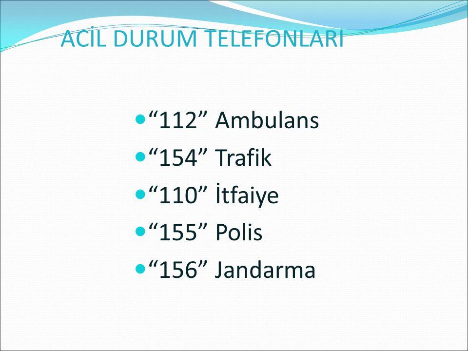 ACİL DURUM TELEFONLARI