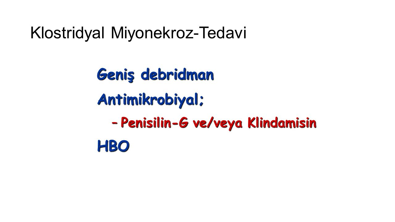Klostridyal Miyonekroz-Tedavi