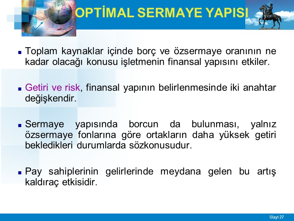 OPTİMAL SERMAYE YAPISI