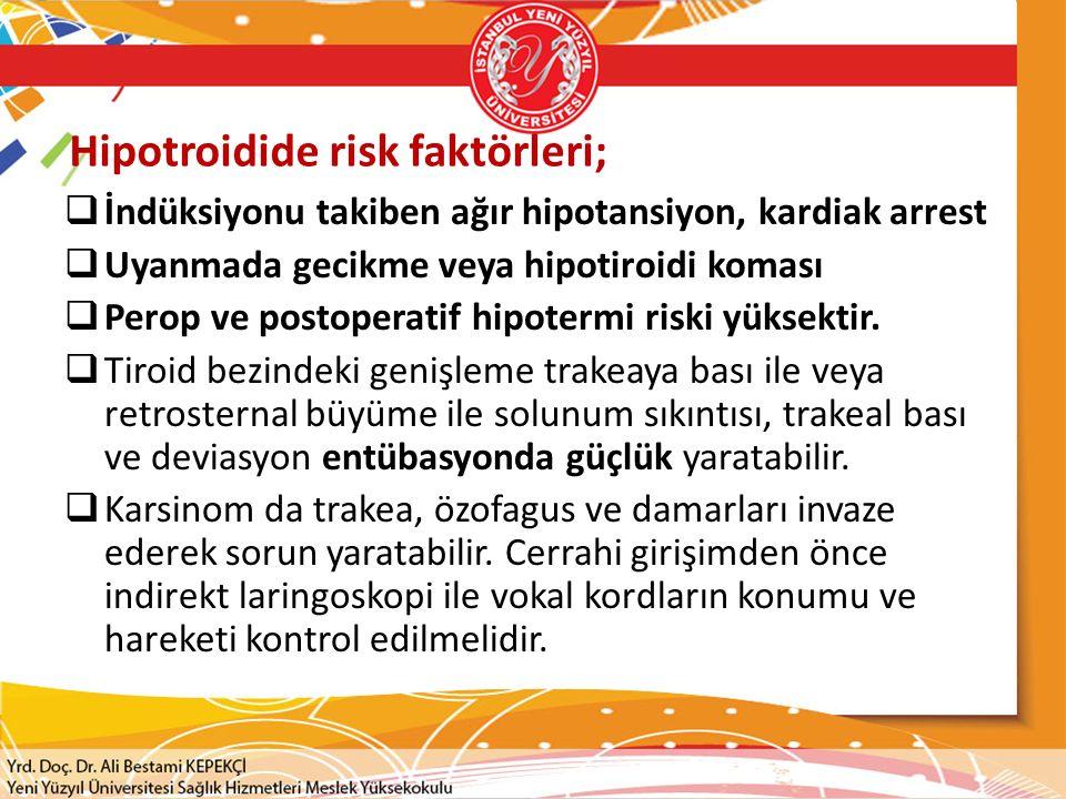 Hipotroidide risk faktörleri;