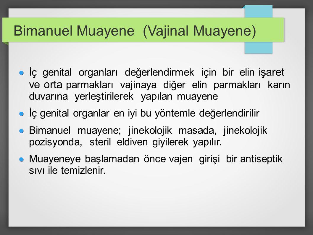 Bimanuel Muayene (Vajinal Muayene)
