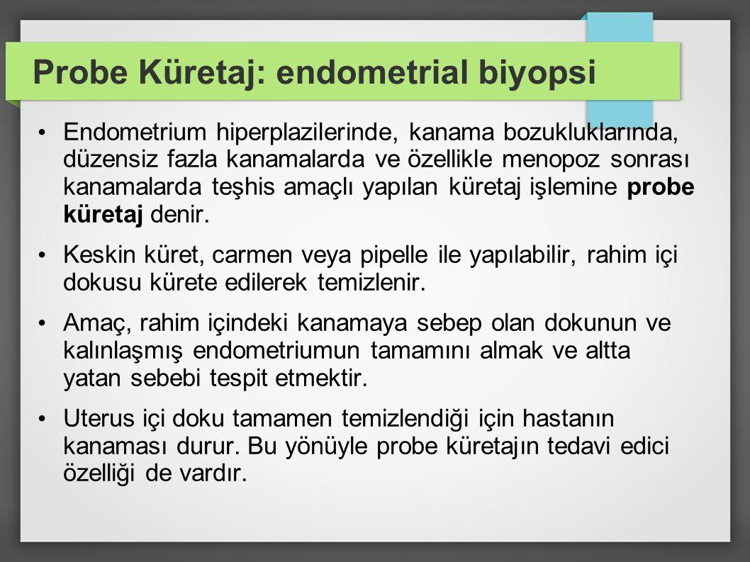 Probe Küretaj: endometrial biyopsi