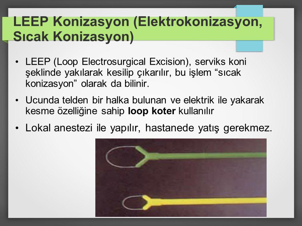 LEEP Konizasyon (Elektrokonizasyon, Sıcak Konizasyon)