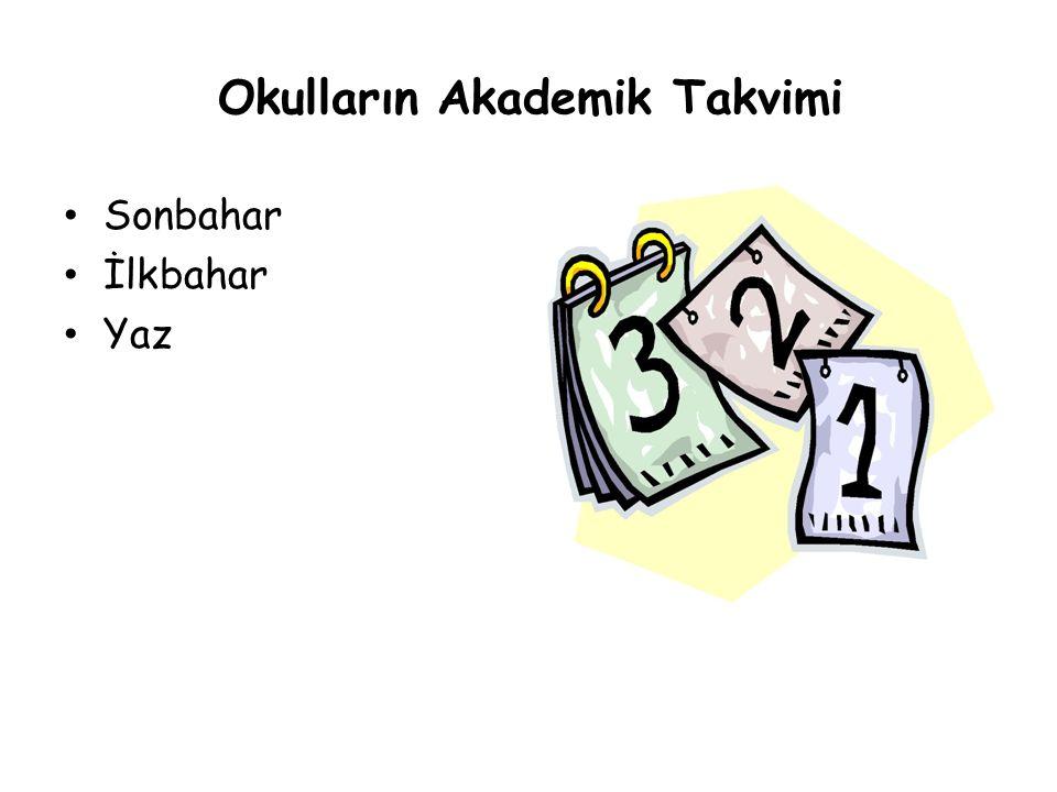 Okulların Akademik Takvimi