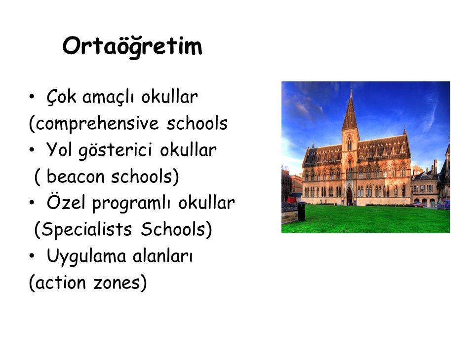 Ortaöğretim Çok amaçlı okullar (comprehensive schools