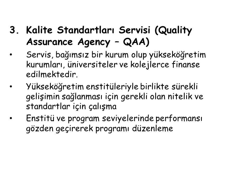 Kalite Standartları Servisi (Quality Assurance Agency – QAA)