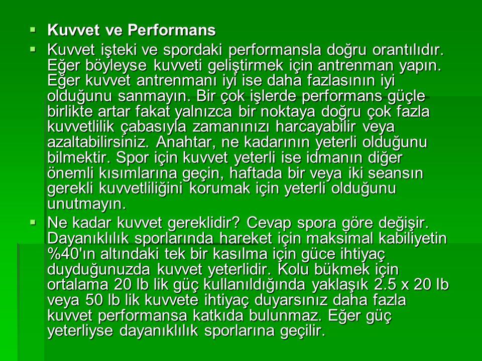 Kuvvet ve Performans
