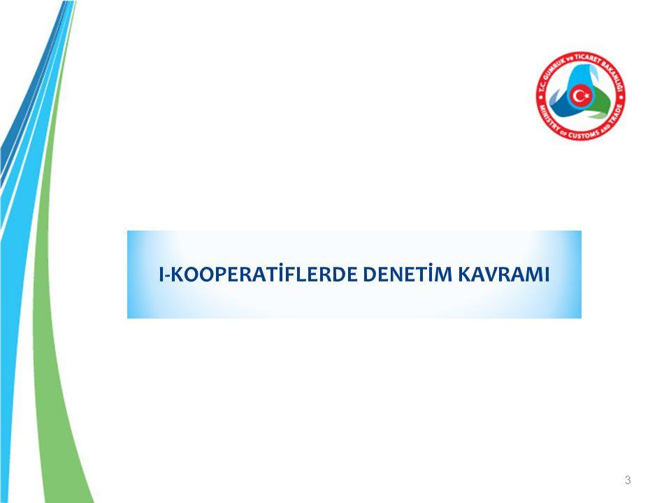 I-KOOPERATİFLERDE DENETİM KAVRAMI